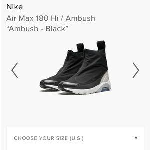 Nike X ambush sneakers size 6/6.5 like new